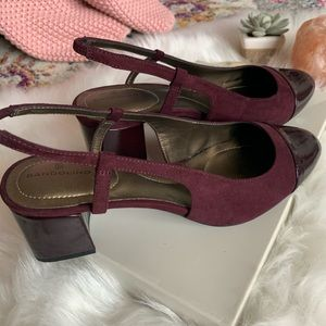 Bandolino Purple slingback block heel size 9-M